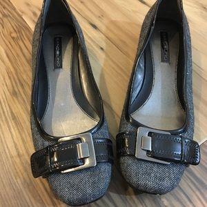 Bandolino Gray and Black Flats Size 9.5